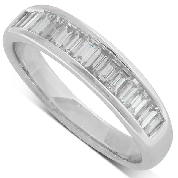 18ct White Gold .68ct Baguette Diamond Ring - Walker & Hall
