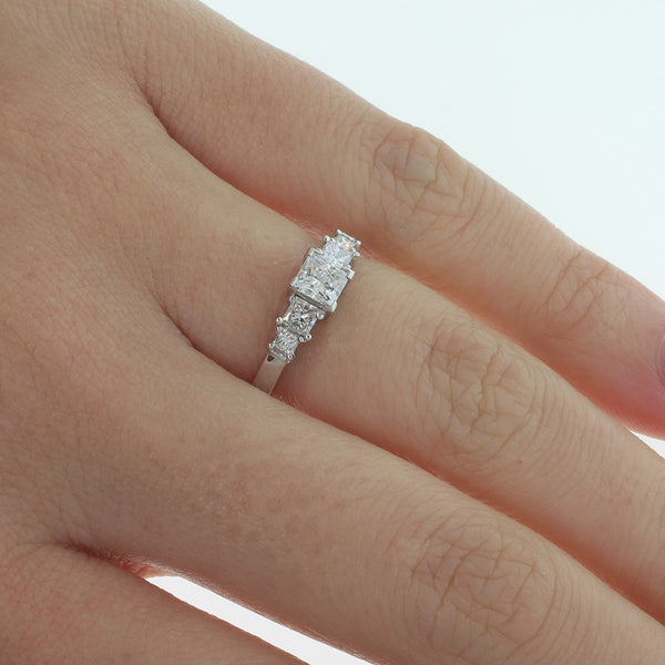 18ct White Gold .57ct Diamond Ring - Walker & Hall