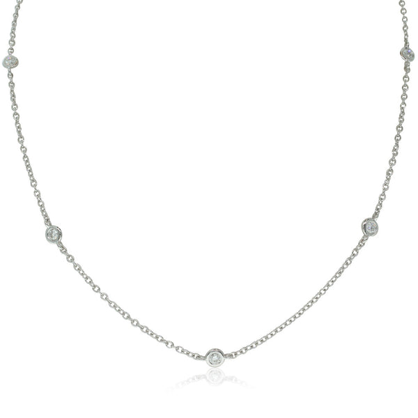18ct White Gold 1.03ct Diamond Necklace - Walker & Hall