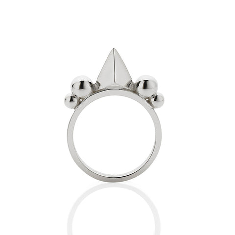 Meadowlark Thorn Ring - Sterling Silver - Walker & Hall