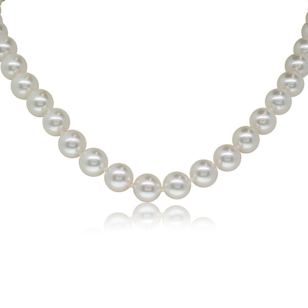 Cultured Pearl Necklace With 9ct Yellow Gold Clasp - Walker & Hall