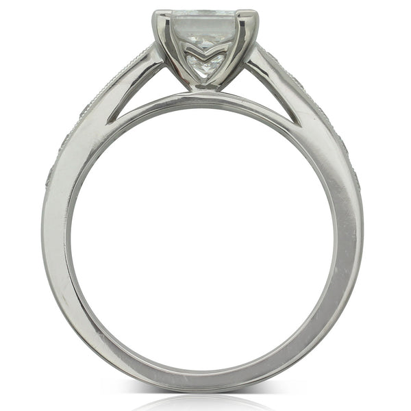 18ct White Gold 1.26ct Diamond Ring - Walker & Hall