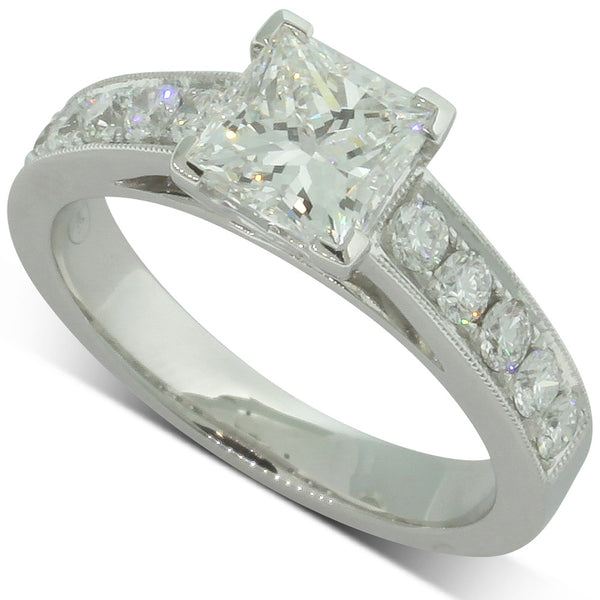 18ct White Gold Diamond Ring - Walker & Hall