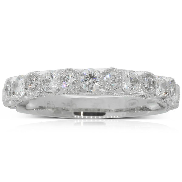 18ct White Gold .83ct Diamond Band - Walker & Hall