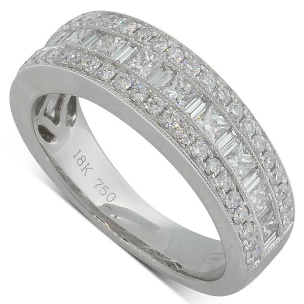 18ct White Gold 1.11ct Diamond Band - Walker & Hall