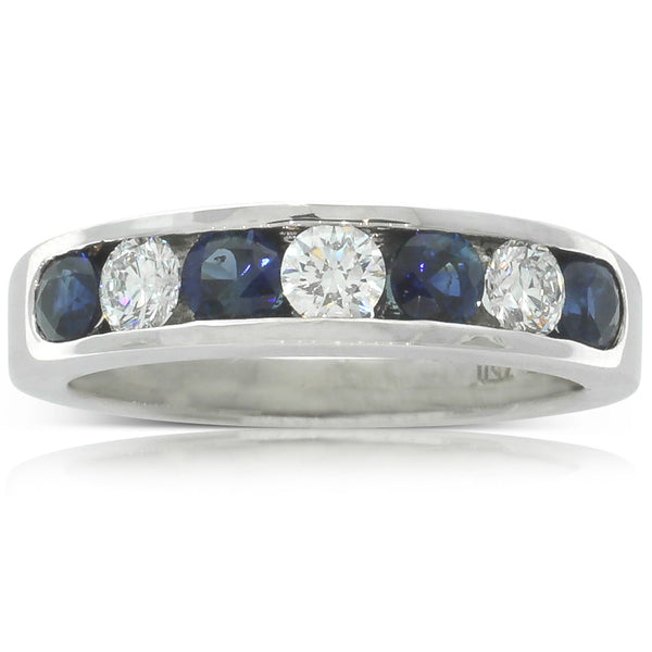 18ct White Gold Sapphire And Diamond Ring - Walker & Hall