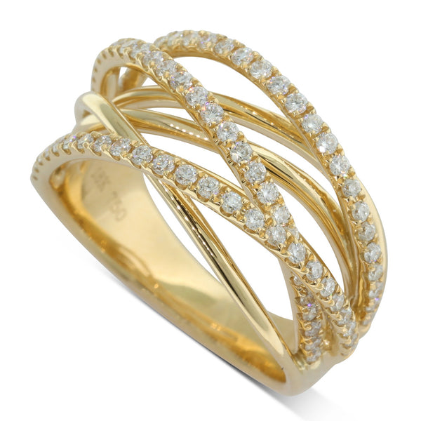 18ct Yellow Gold .62ct Diamond Dress Ring - Walker & Hall