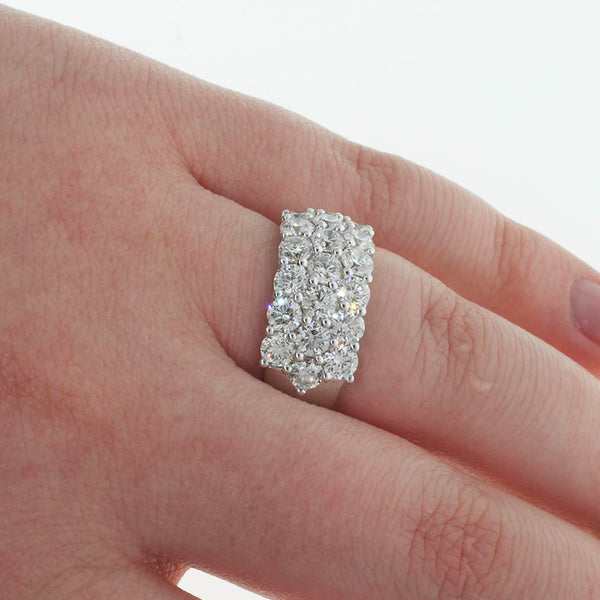 18ct White Gold 3.24ct Diamond Band - Walker & Hall