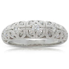 Platinum .51ct Diamond Filigree Ring - Walker & Hall