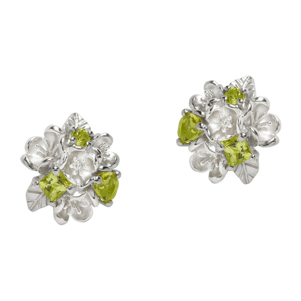 Karen Walker Rock Garden Flower Ball Studs Peridot - Sterling Silver