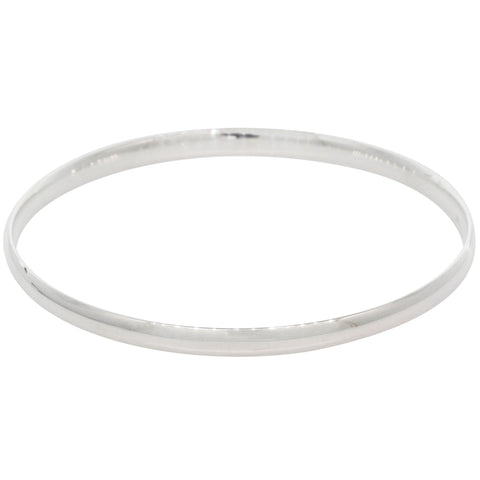 Sterling Silver 4.2mm Bangle - Walker & Hall