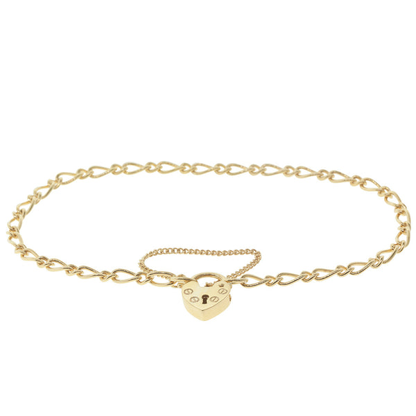 9ct Yellow Gold Figaro Bracelet - Walker & Hall