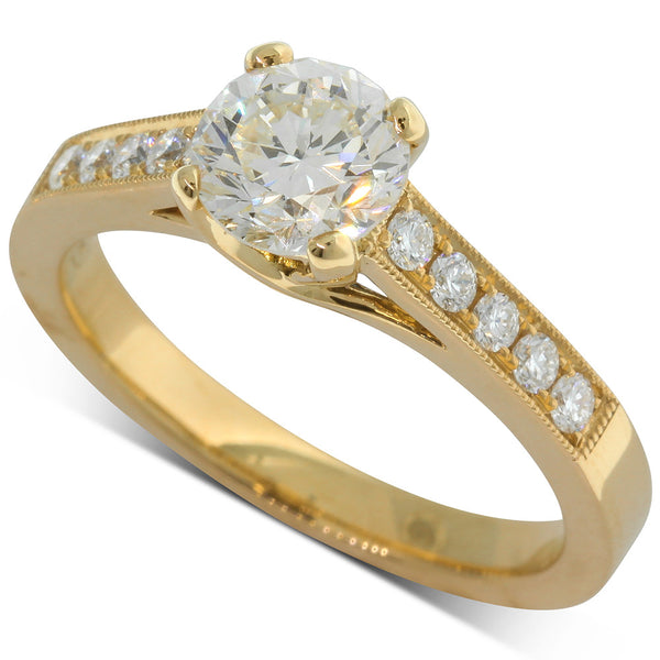18ct Yellow Gold Diamond Ring - Walker & Hall