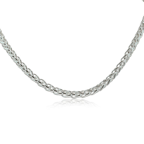 Sterling Silver 5mm Wheat Chain - Walker & Hall