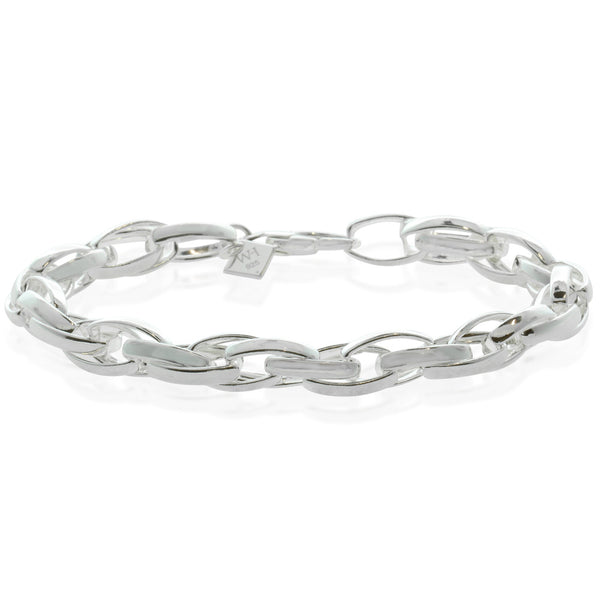 Sterling Silver Oval Twist Bracelet - Walker & Hall