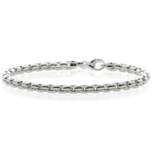 Sterling Silver Box Link Bracelet - Walker & Hall