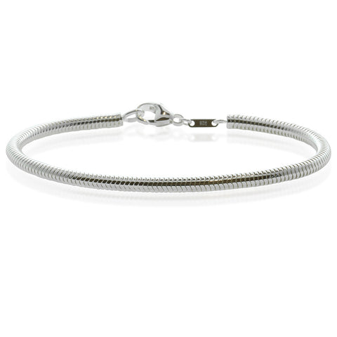Sterling Silver 3.2mm Snake Bracelet - Walker & Hall