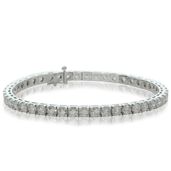 18ct White Gold 8.38ct Diamond Tennis Bracelet - Walker & Hall