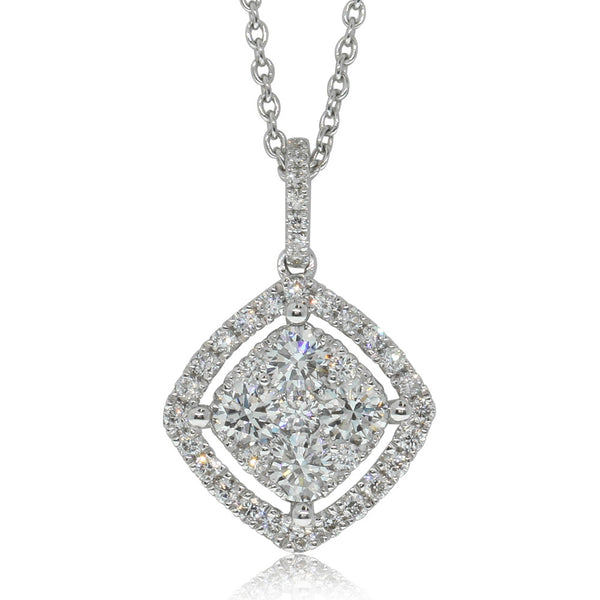 18ct White Gold .93ct Diamond Pendant - Walker & Hall