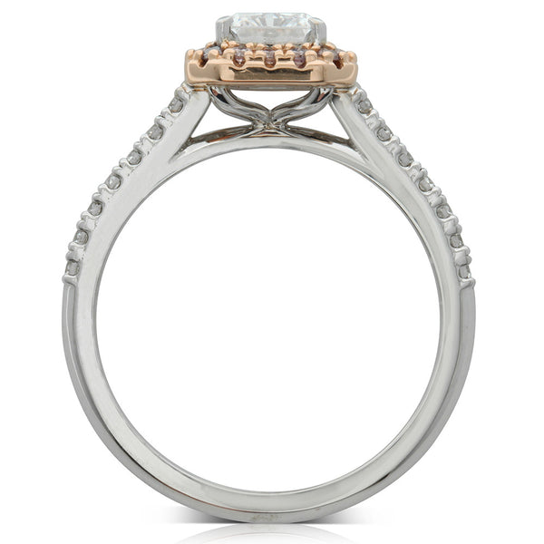 18ct White & 18ct Rose Gold 1.00ct White And Pink Diamond Ring - Walker & Hall