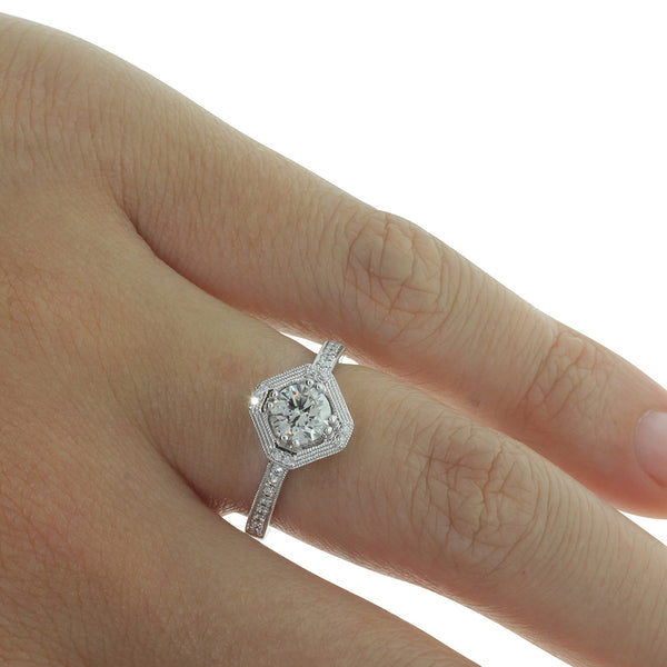 18ct White Gold .62ct Diamond Ring - Walker & Hall