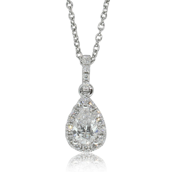 18ct White Gold .44ct Diamond Pendant - Walker & Hall