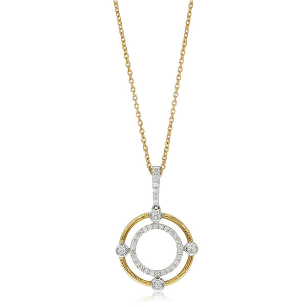 18ct Yellow & 18ct White Gold .27ct Diamond Necklace - Walker & Hall