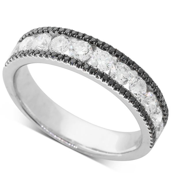 18ct White Gold 1.21ct Black Diamond Ring - Walker & Hall