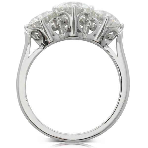 18ct White Gold 2.82ct Diamond Coronado Ring - Walker & Hall