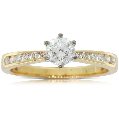 18ct Yellow Gold .50ct Diamond Avalon Ring - Walker & Hall