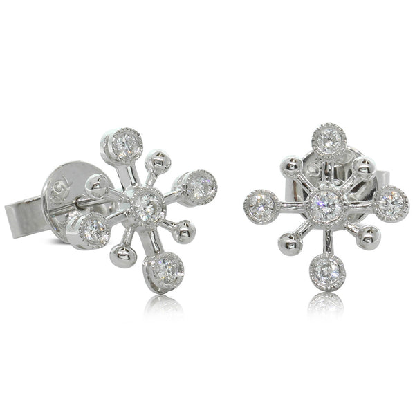 18ct White Gold .23ct Diamond Studs - Walker & Hall