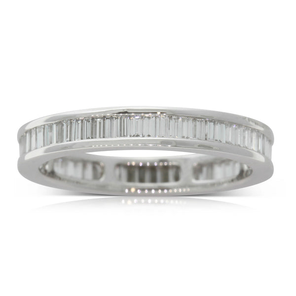 Platinum 1.04ct Baguette Cut Diamond Eternity Ring - Walker & Hall