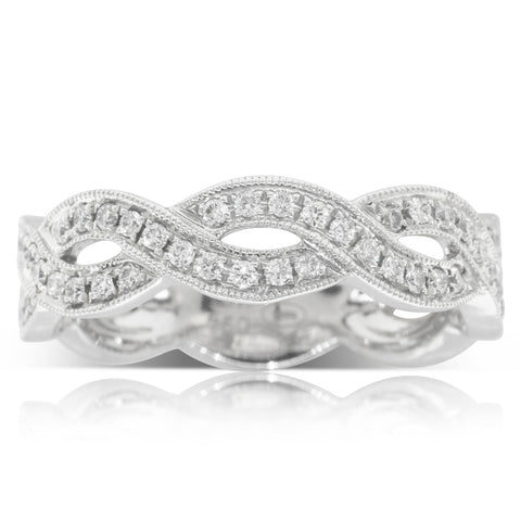 18ct White Gold .32ct Diamond Ring - Walker & Hall