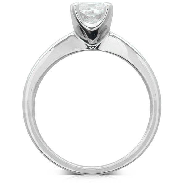 18ct White Gold 1.01ct Princess Cut Diamond Royale Ring - Walker & Hall