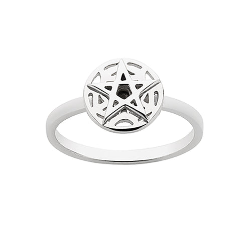 Meadowlark Layered Stacker Ring - Sterling Silver - Walker & Hall