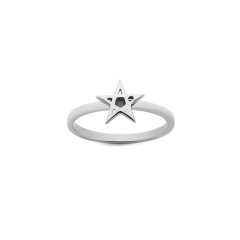 Meadowlark Pentagram Stacker Ring - Sterling Silver - Walker & Hall
