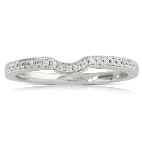 Platinum .08ct Diamond Eiffel Band - Walker & Hall