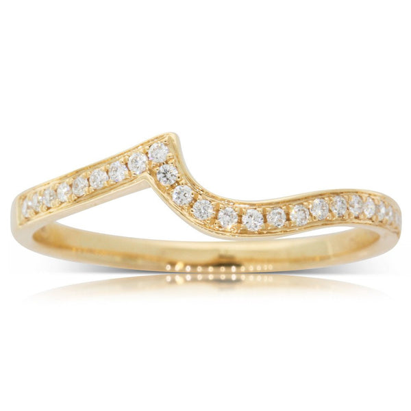 18ct Yellow Gold .12ct Diamond Embrace Band - Walker & Hall