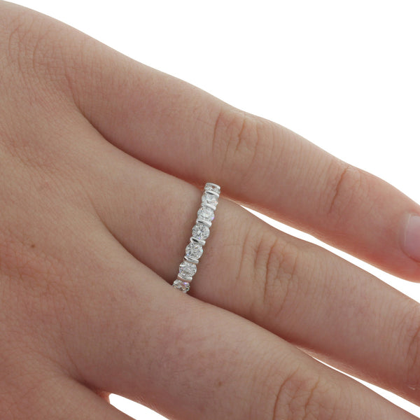 18ct Yellow And White Gold Diamond Band - Walker & Hall