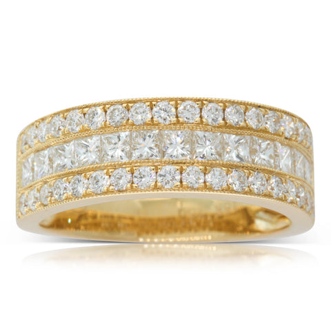 18ct Yellow Gold 1.41ct Diamond Legacy Ring - Walker & Hall