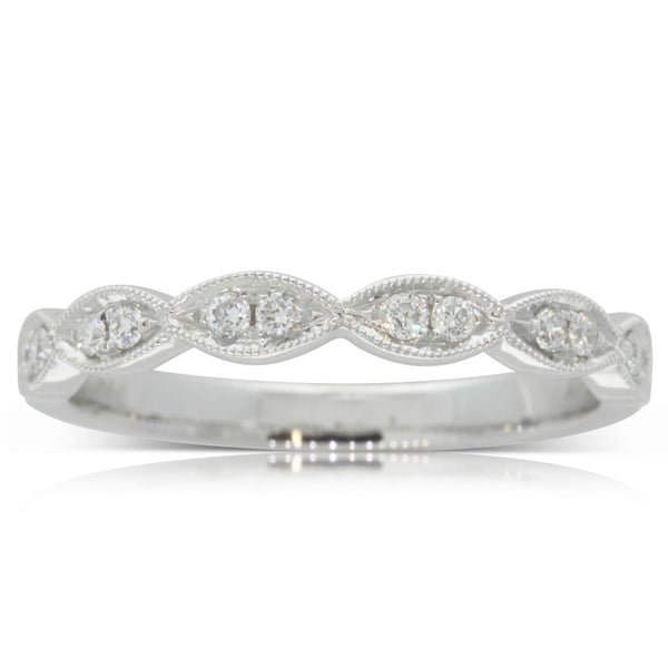 18ct White Gold .16ct Diamond Band