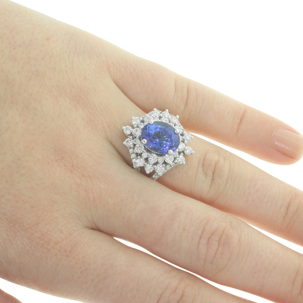 Platinum Tanzanite And Diamond Ring - Walker & Hall