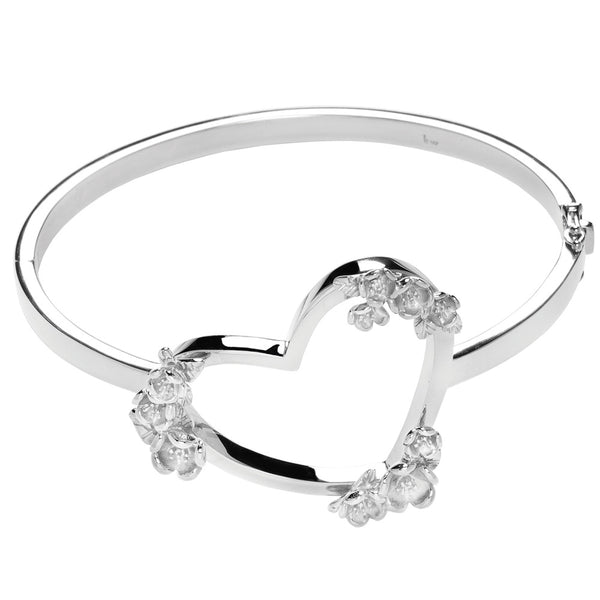Karen Walker Botanical Heart Bracelet - Sterling Silver - Walker & Hall