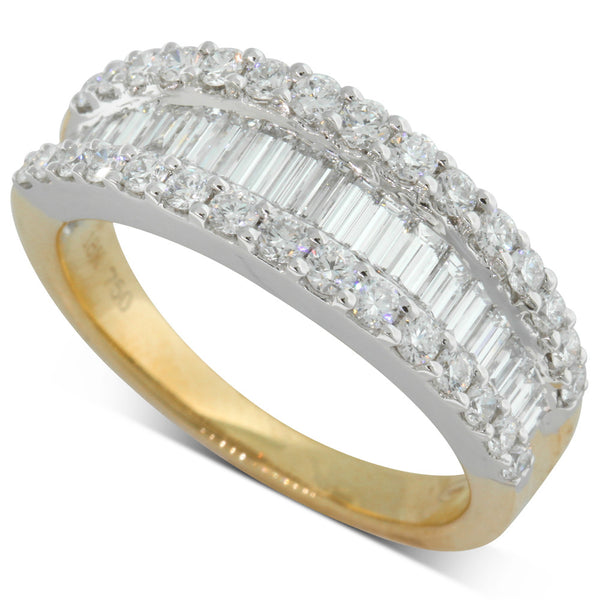 18ct Yellow And White Gold 1.36ct Diamond Ring - Walker & Hall