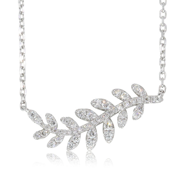 18ct White Gold .38ct Diamond Necklace - Walker & Hall