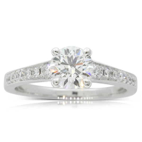 Platinum 1.02ct Diamond Ring - Walker & Hall
