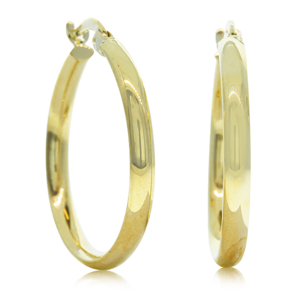 9ct Yellow Gold Hoop Earrings - Walker & Hall