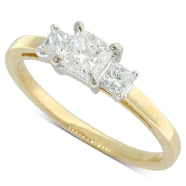 18ct Yellow & 18ct White Gold .73ct Diamond Olympus Ring - Walker & Hall