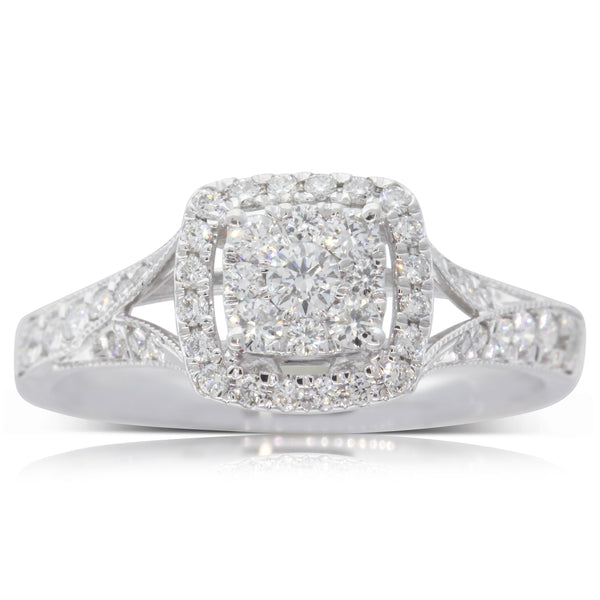 9ct White Gold .50ct Diamond Duchess Ring