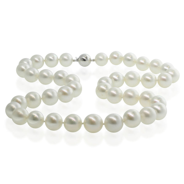 Cultured South Sea Pearl Necklace With 9ct White Gold Clasp - Walker & Hall